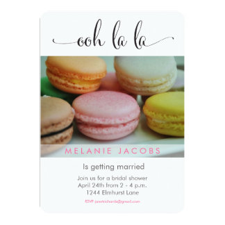Ooh La La Macaron Bridal Shower Card