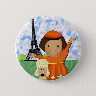 Ooh La La Paris 2 Inch Round Button