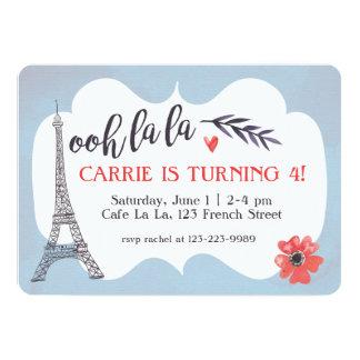 Ooh la la Paris Birthday Invitation