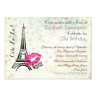 Ooh La La Parisian Night Birthday Party Invite