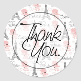 Ooh La La | Thank You Classic Round Sticker
