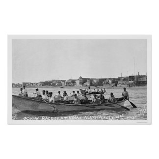 Oomiak Racers Nome, Alaska 1915 Poster