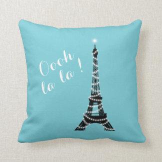 Oooh La La Throw Pillow Turquoise