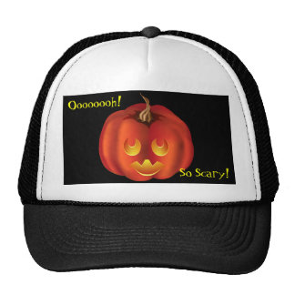 Oooh, So Scary! Vampire Jack-O-Lantern Halloween Trucker Hat
