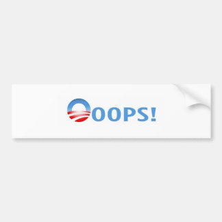 ooops! bumper sticker
