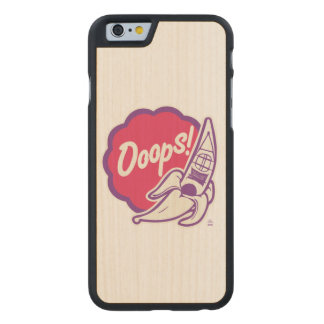 Ooops, it is high time kayaking! carved maple iPhone 6 case