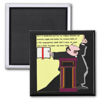 Oops!  Freudian Slip by the Preacher-funny Magnet