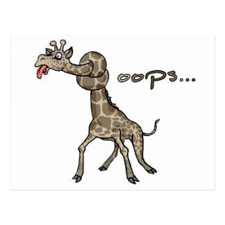 Oops... Giraffe Postcard