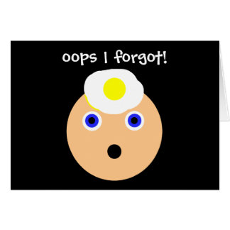 oops!  I forgot! Card
