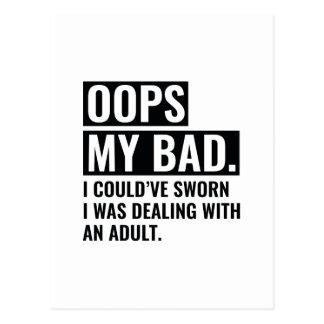 OOPS My Bad Postcard
