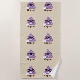 Oops Poops Purple Poop Emoji (brown) Towel