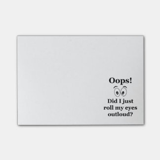 Oops! Post-it Notes