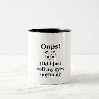 Oops! Two-Tone Coffee Mug