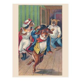 """""""Oops"""" Vintage Dogs Postcard"""