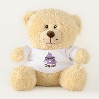 Oopsie Poopsie Purple Emoji Teddy Bear
