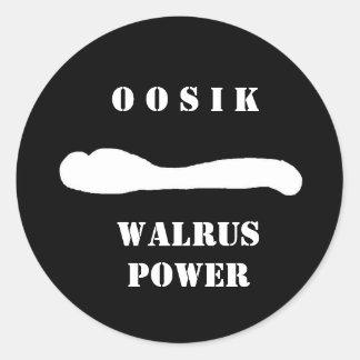 oosik walrus rep round sticker