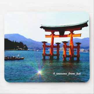 Ootorii ☆O-torii☆itukusima who stands in the sea Mouse Pad