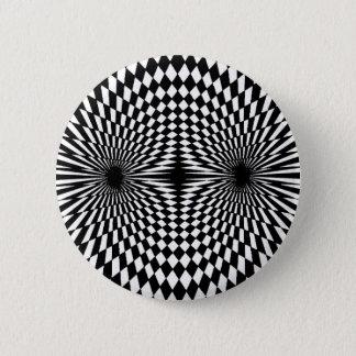 Op Art #12 2 Inch Round Button