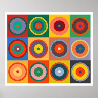 Op Art #24 Kandinsky Colors Poster