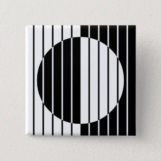 Op Art 2 Inch Square Button