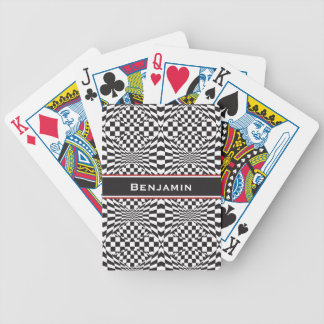 Op Art Background 1 Bicycle Playing Cards
