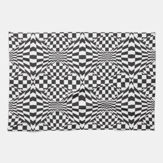 Op Art Background 1 Kitchen Towel