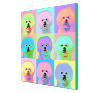 Op Art - Bichon Frise Canvas Print