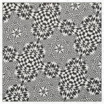Op Art Black and White Fabric