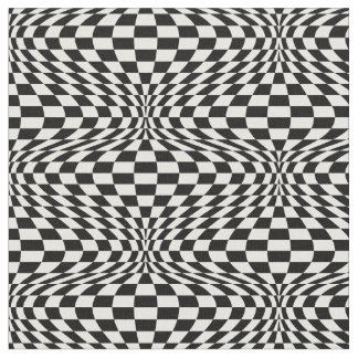 Op Art Checkerboard Fabric