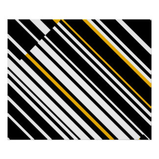 Op Art Homage to GF Diagonal Lines Four Poster