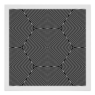 Op Art Only Symmetrical Shapes 04 Seamless Poster