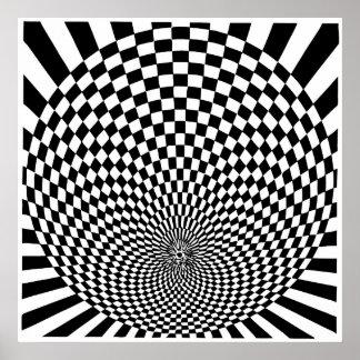 Op Art, optical illusion Poster