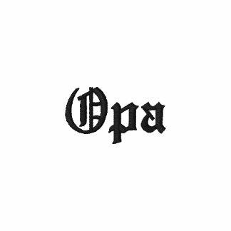 """Opa"" Custom Embroidered Zip Hoody"