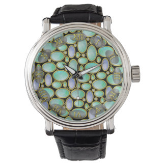 Opal Brooch Pendant Chain Pattern Watch