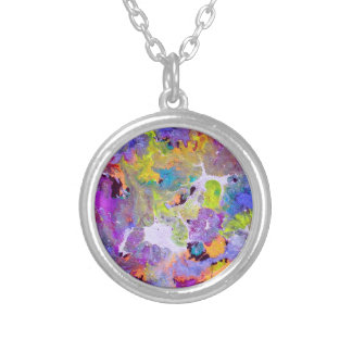 Opal Colors Silver Plated Necklace