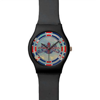 Opal Dial Union Jack & British Coat Arms Watch