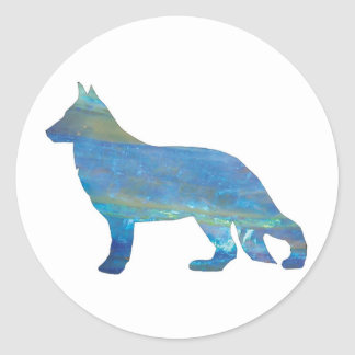 Opal German Shepherd Stickers