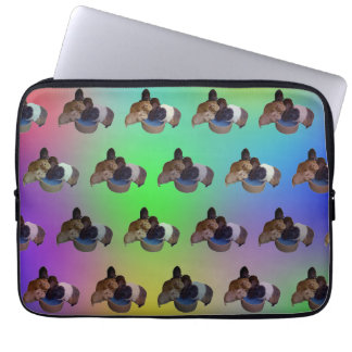 Opal Guinea Pig Pattern, 13 Inch Laptop Sleeve