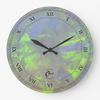 Opal - October Birthstone with Roman Numerals Large Clock