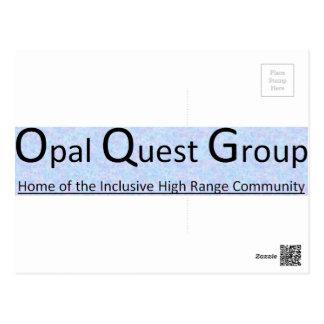Opal Quest Group - Postcard