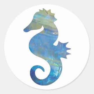 Opal Sea Horse Stickers