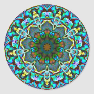Opalescent Beauty Fractal Classic Round Sticker