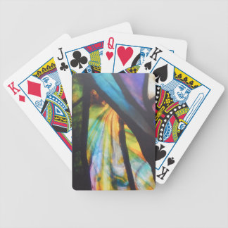 Opalescent Stained Glass Design Bicycle Playing Cards