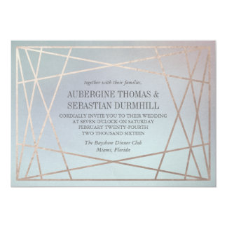 Opaline Wedding Invitation Pastel Champagne Gold