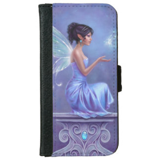 Opalite Blue and Purple Fairy iPhone 6 Wallet Case