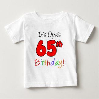 Opa's 65th Birthday Baby T-Shirt