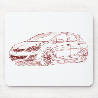 Opel Astra 2010 Mouse Pad