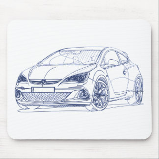 Opel Astra OPC 2013 Mouse Pad