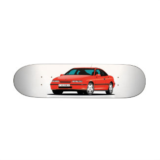 Opel Calibra red front Skate Boards