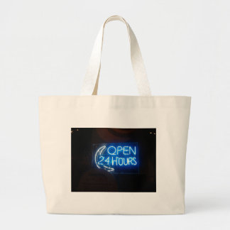 Open 24/7 jumbo tote bag